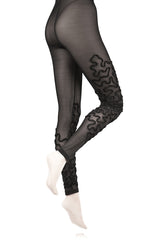 BEBAROQUE NETTLE Black Tulle Leggings