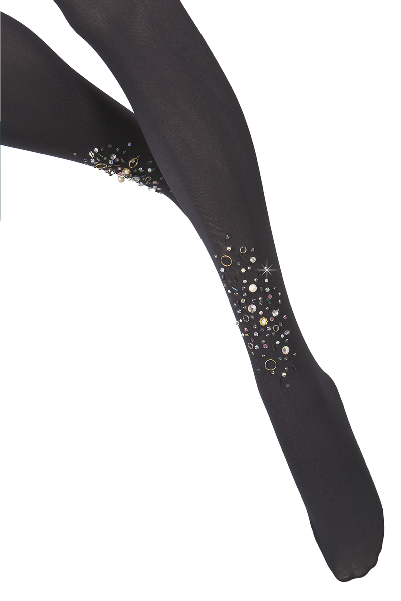 BEBAROQUE PETRA Black Embellished Tights