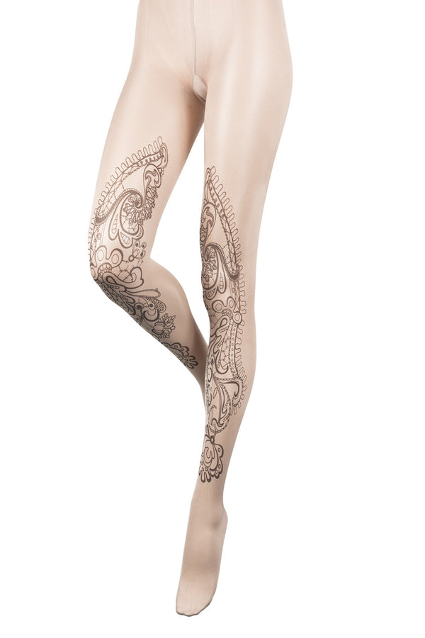BEBAROQUE PRISCILLA Nude Tattoo Tights