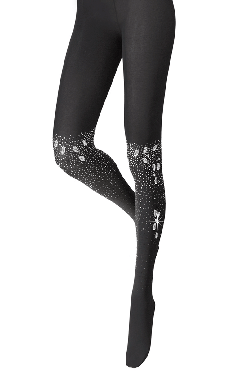 BEBAROQUE SASKIA Black Crystal Tights