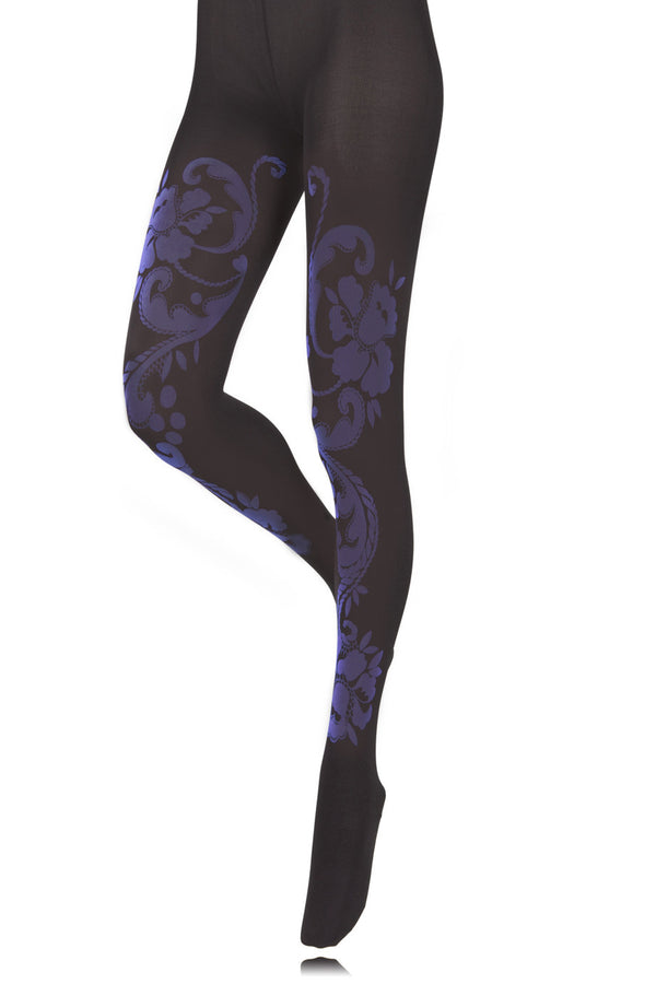 BEBAROQUE SEA HOLLY Purple Tights