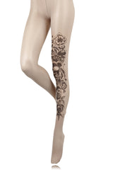 BEBAROQUE SWEAT PEA Nude Tights