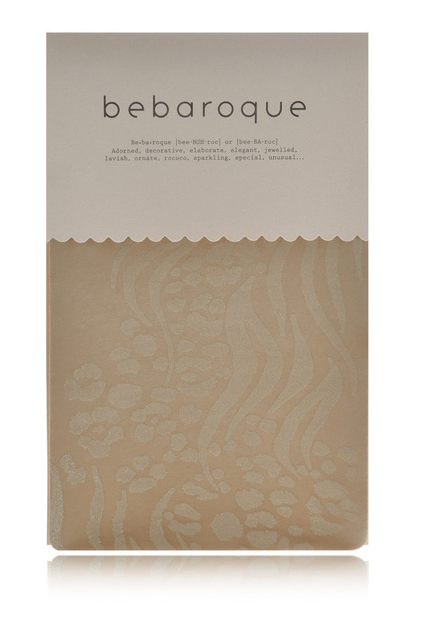 BEBAROQUE ZHORA Leopard Print Beige Sheer Tights