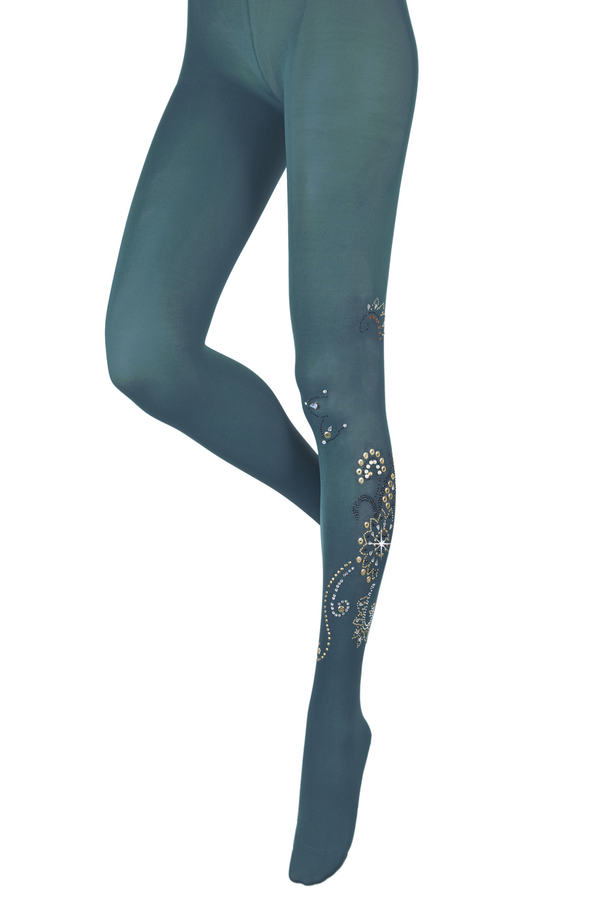 BEBAROQUE ZSA ZSA Teal Tights