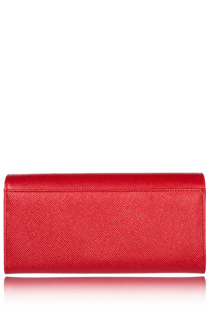 DOLCE & GABBANA CARMEL Red Leather Wallet