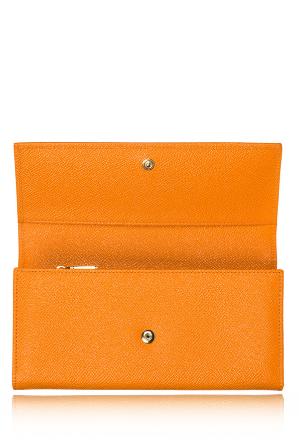 DOLCE & GABBANA CARMEL Safran Leather Wallet