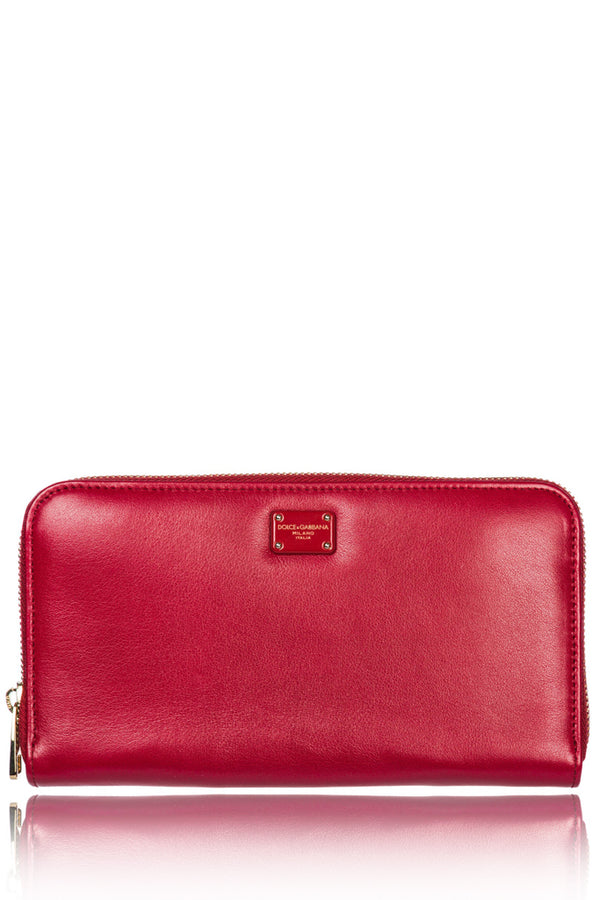 DOLCE & GABBANA DOLCE Red Leather Wallet