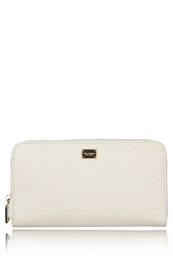 DOLCE & GABBANA DOLCE Ivory Leather Wallet