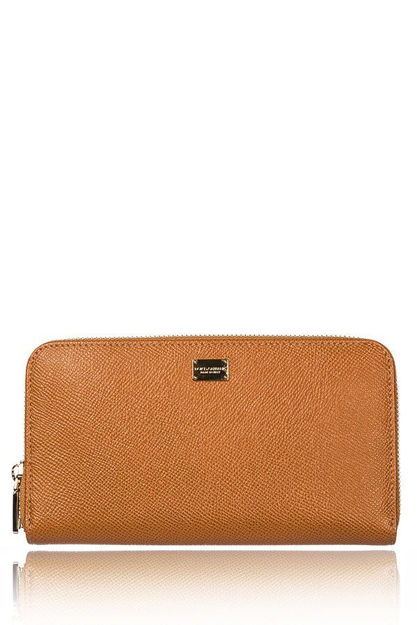 DOLCE & GABBANA DOLCE Camel Leather Wallet