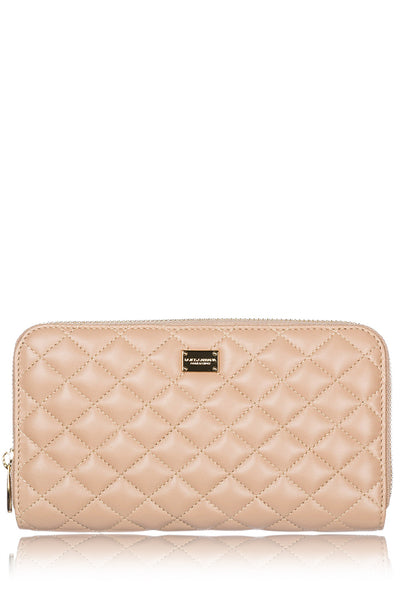 DOLCE & GABBANA PORTAMONETE Ivory Leather Wallet