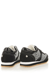 BLINK Black Woman Sneakers - MARTINA Black Metallic Glitter Sneakers