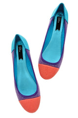 BLINK AUGUSTA Multi Color Studded Ballerinas