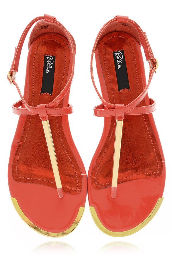 BLINK BETTY Coral Patent Sandals