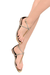 BLINK BETTY Taupe Patent Sandals