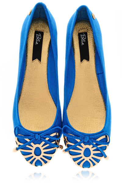 BUTTERFLY WINGS Royal Blue Ballerinas