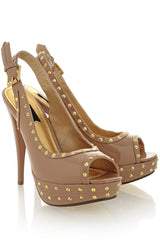 BLINK CARRIE Nude Studded Platforms