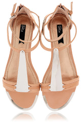 BLINK INNA Nude Metal Sandals