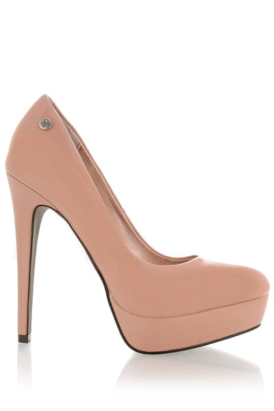 BLINK JOANNA Blush Patent Pumps