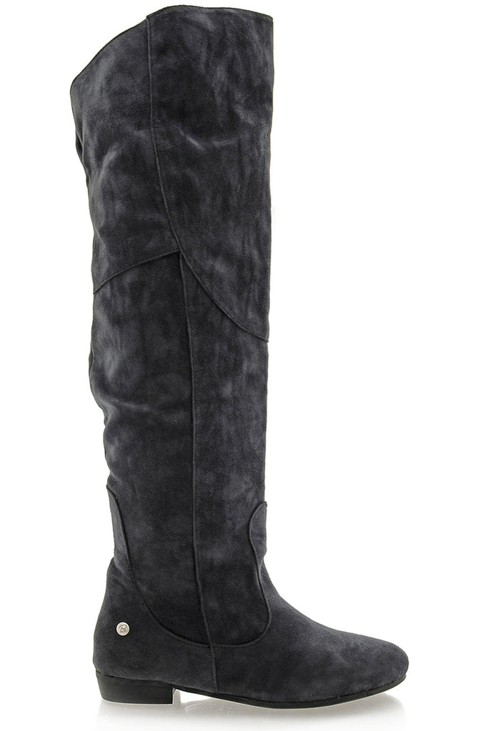 BLINK LANIE Dark Grey Thigh Boots