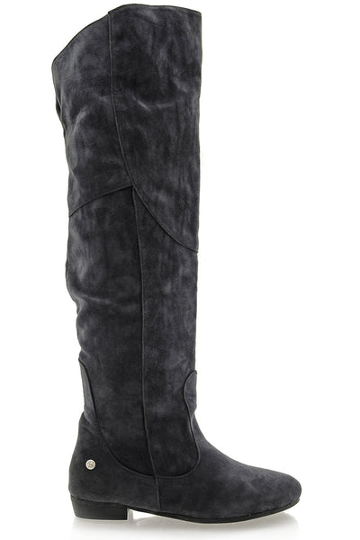 LANIE Dark Grey Thigh Boots