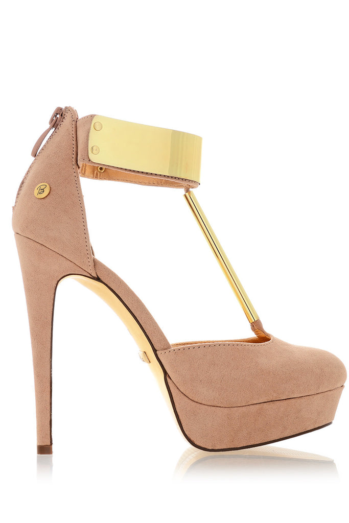 BLINK LORELEI Nude Suede Platforms