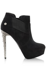 BLINK LORE Black Studded Ankle Boots