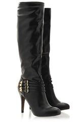 BLINK RONNA Black Knee High Boots