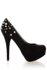 BLINK - SPIKE Black Suede Pumps - Women Shoes - Heels