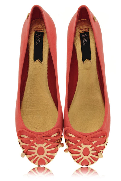 WINONAH Deep Red Ballerinas