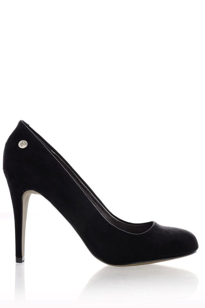 BLINK - ALEYSIA Black Suede Pumps | Women Shoes