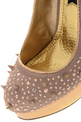 BLINK ANGELITA Rose Gold Studded Pumps