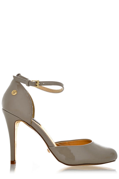 PARIS Taupe Ankle Strap Sandals