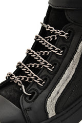BRONX BERENICE Black Chain Ankle Sneakers