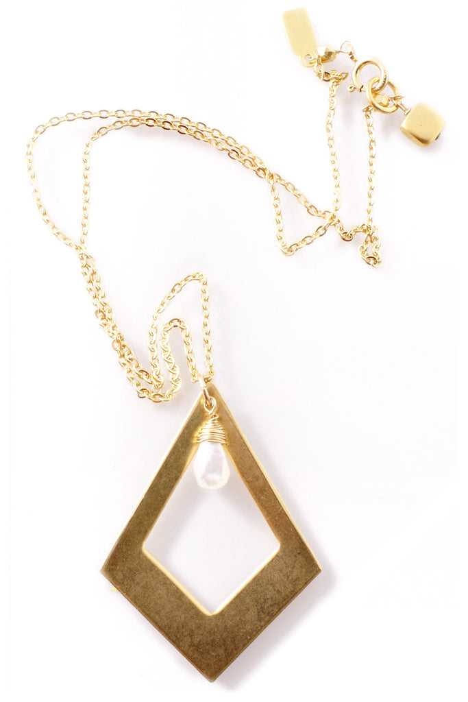 BY THE STONES GEO Gold Geometrical Pendant