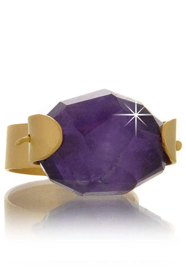 BY THE STONES AMETHYST Gold Ring