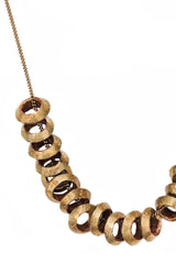 BY THE STONES - AFRICAN Short Brass Necklace - Jewelry