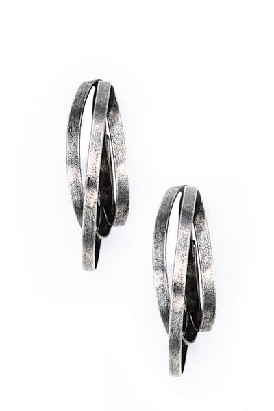 BY THE STONES ANTIQUE Silver Hoops