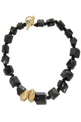 BY THE STONES PEBBLES Black Tourmaline Necklace