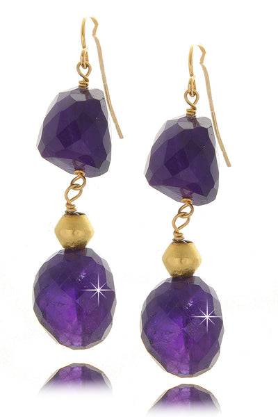 BY THE STONES ROSARY Smoky Amethyst Earrings