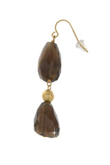 BY THE STONES ROSARY Smoky Topaz Earrings