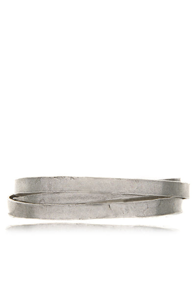 BY THE STONES TEXTURED Silver Wire Bangle