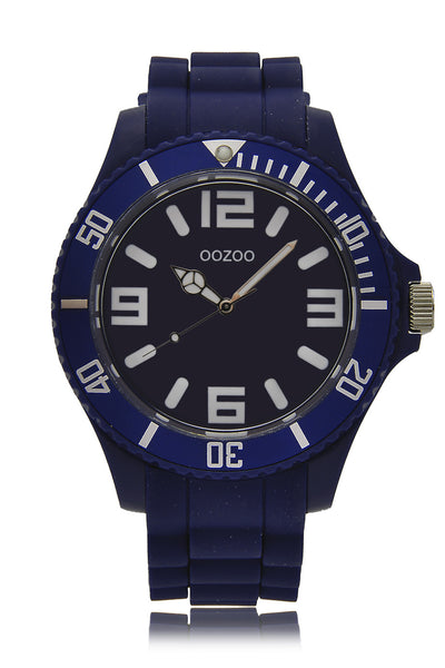 C4168 Dark Blue Silicone Watch