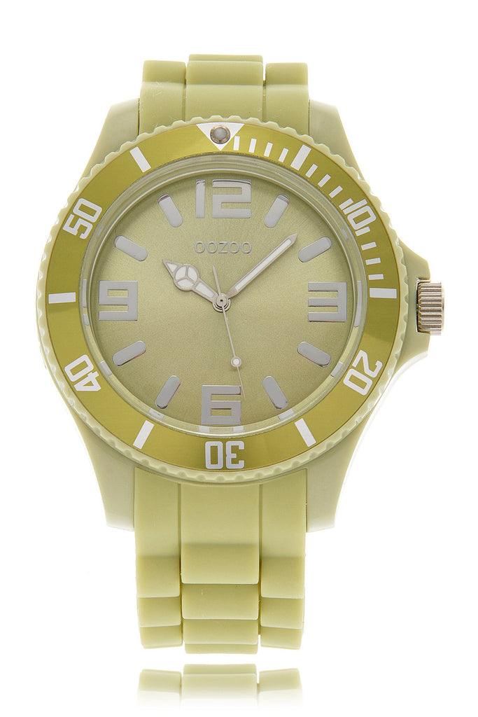 PISTACHIO Light Green Silicone Watch
