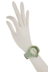 JADE Pastel Green Silicone Watch