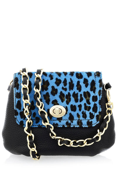 AZZURA Black Pony Hair Crossbody Bag