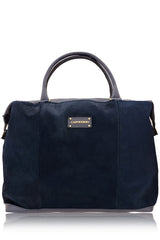 CAPOVERSO CAVALLINO Blue Pony Hair Leather Grab