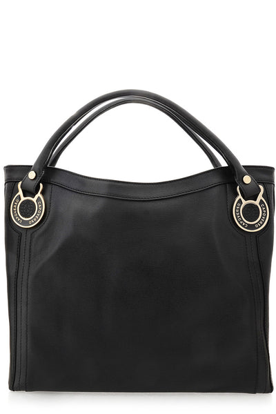 CAPOVERSO ELITE Black Leather Tote