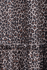 CARLOS MIELE LEOPARD Brown Maxi Printed Dress