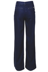 CARLOS MIELE - DARK DENIM Wide Pants | Women Trousers