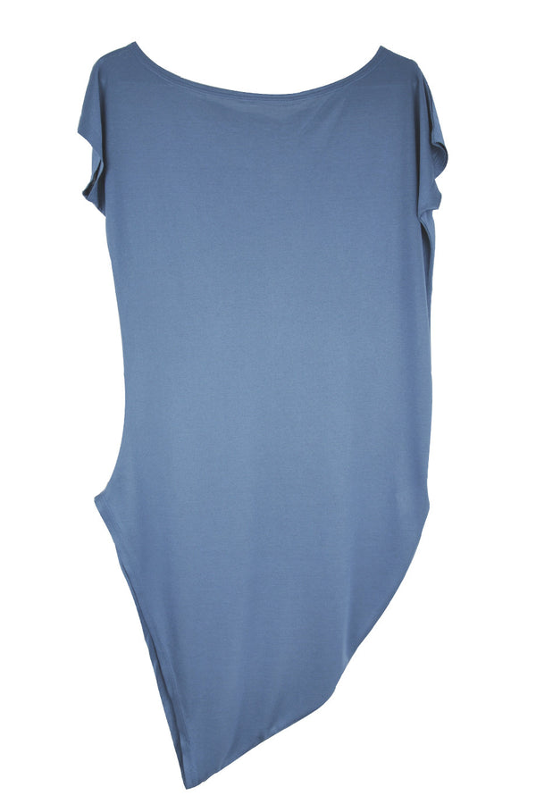 CARLOS MIELE ELECTRIC BLUE Asymmetric T-Shirt